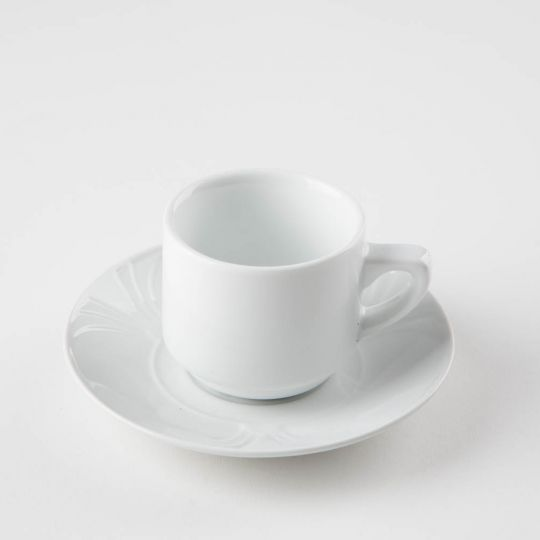tasse et sous-tasse à café Ecotel